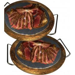 Plato para carnes con base...